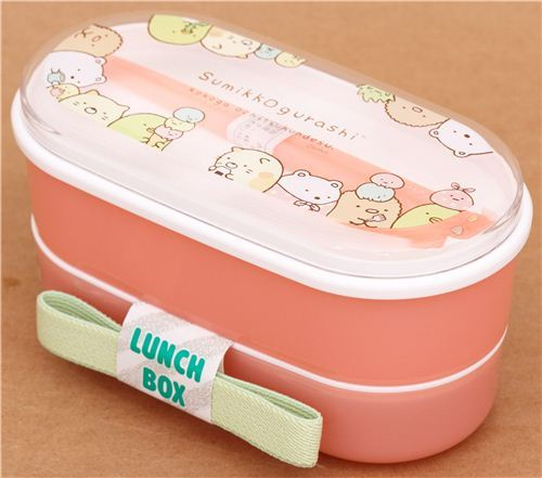pink Sumikkogurashi shy animals Bento Box lunch box