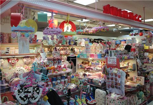 What a crowded shop, every inch is used to display products