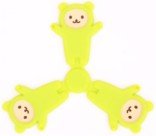 green foldable bear silicone mat coaster from Japan