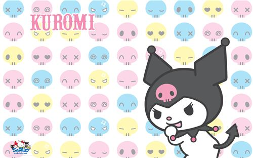 Colourful Kuromi wallpaper