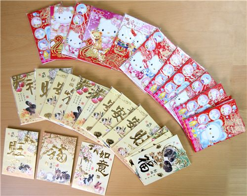 red Hello Kitty red pockets and golden bunny red pockets