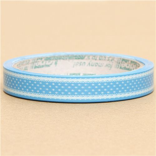 pretty blue Deco Tape with white dots