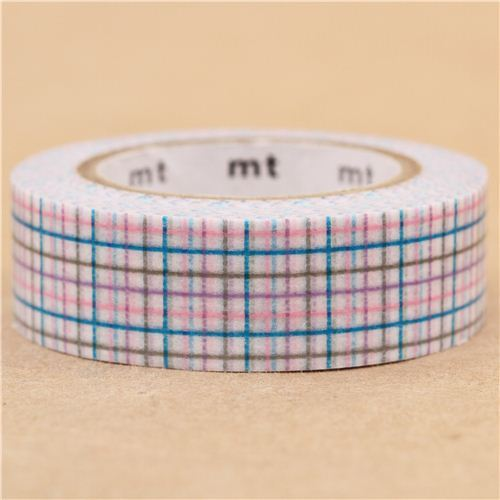 mt Washi Masking Tape deco tape square light blue purple pink
