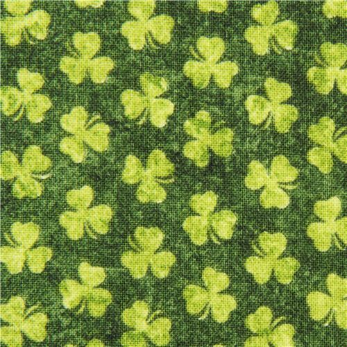 green Shamrock cloverleaf fabric Saint Paddy's Day 2