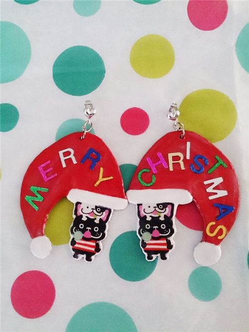 Fun Christmas charms made with our bulldog stickers