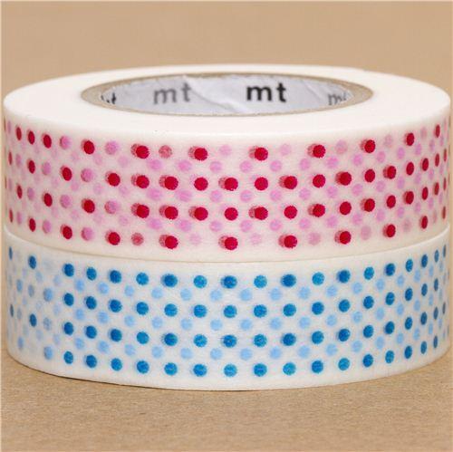mt Washi Masking Tape deco tape set 2pcs polka dots