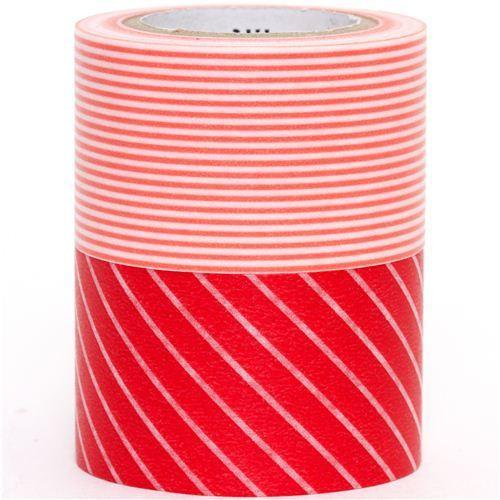 wide mt Washi Masking Tape deco tape set 2pcs stripes