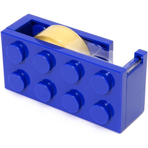 blue building block adhesive tape dispenser cutter