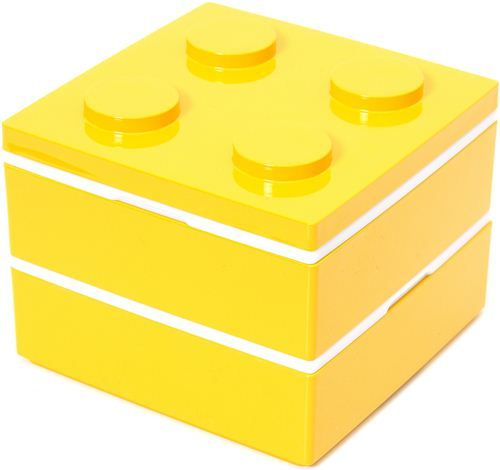 funny yellow building block Bento Box from Japan