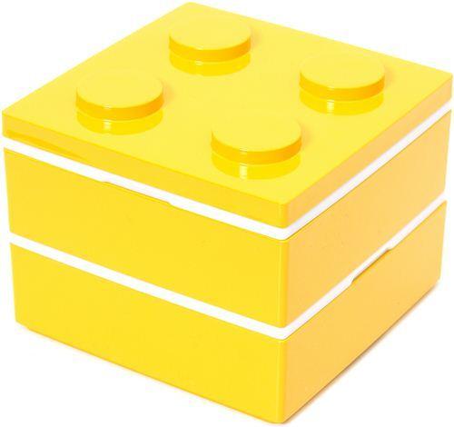 funny yellow building block Bento Box from Japan