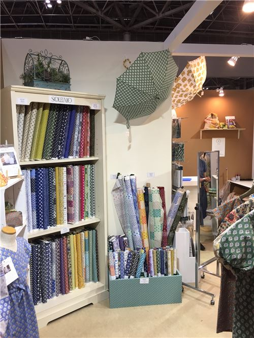 Fabrics on display