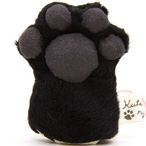 Kutusita Nyanko plush charm black cat paw
