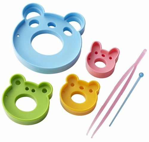 panda bear rabbit frog Wow Bento food cutters