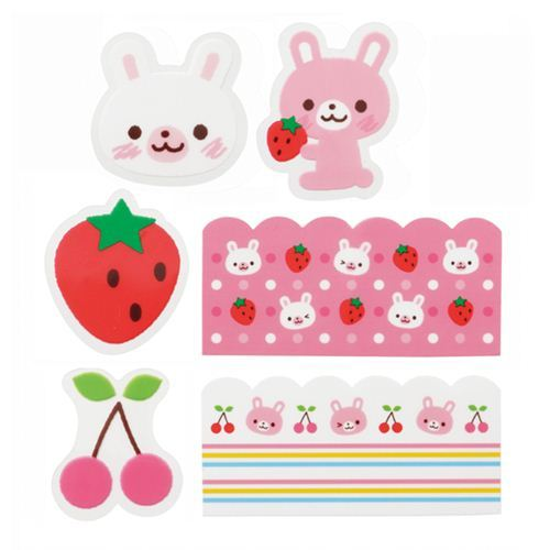 rabbit cherry Baran divider sheets for Bento Box Lunch Box