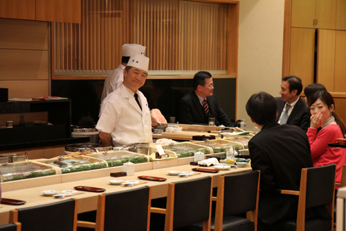 our sushi chef, he made us some really delicious sushi and we were even more excited to be in Tokyo.