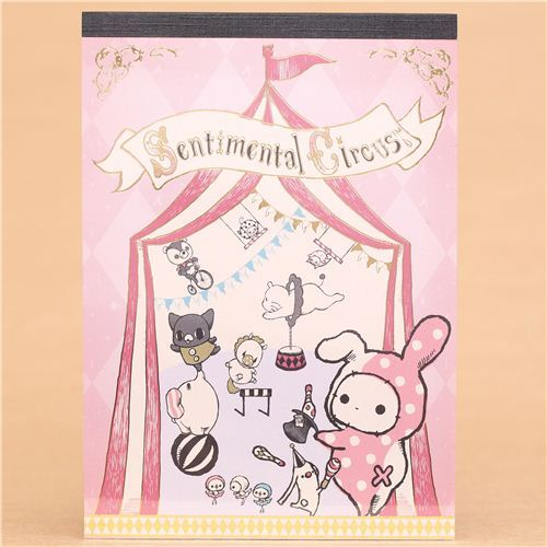 pink Sentimental Circus Note Pad big top