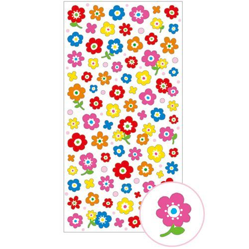 cute colorful flower dot stickers by Mind Wave