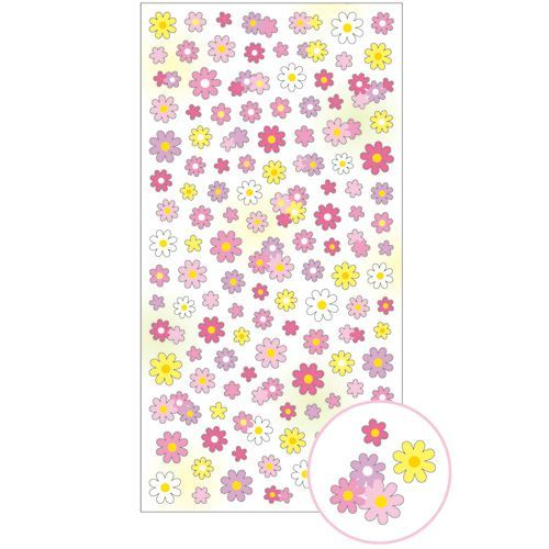 cute pink yellow light purple flower stickers by Mind Wave