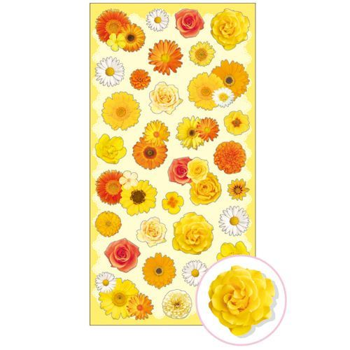 cute yellow orange white flower stickers by Mind Wave