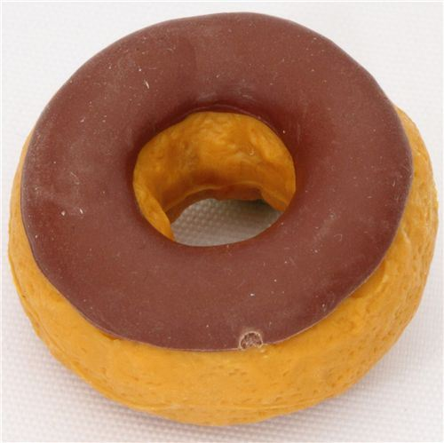chocolate donut eraser from Japan by Iwako