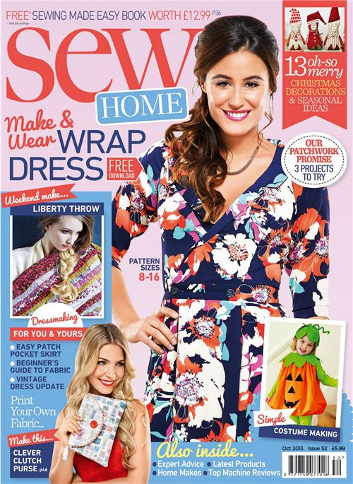 In the October issue of 2013 Sew Magazine featured our Anime fabrics