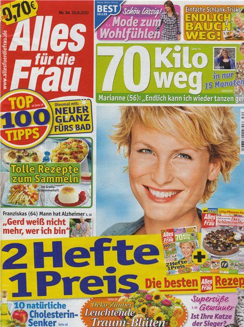 We are in the new 'Alles für die Frau' magazine 1