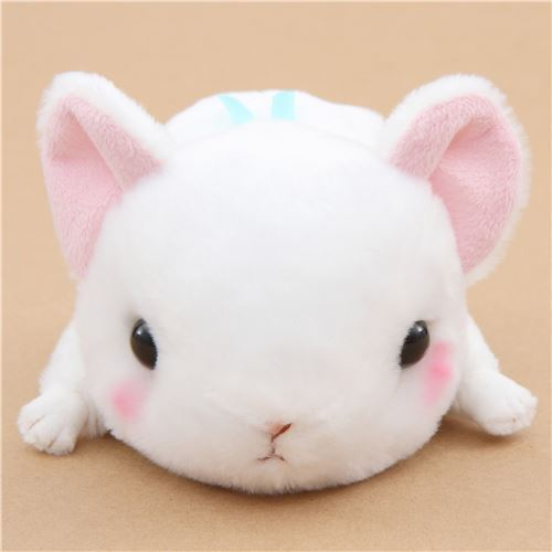 kawaii white pika Kyun To Naki Usagi Nenne plush toy from Japan