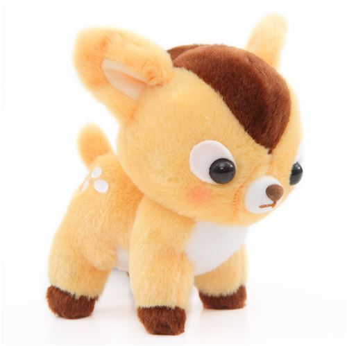 small light orange dark brown cute deer Koijika no Latte plush toy Japan