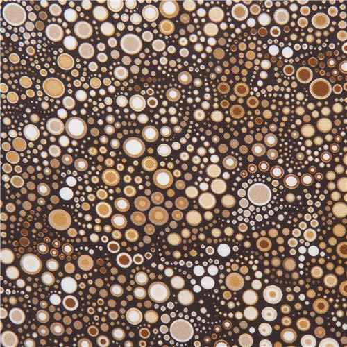 brown white circle dot bubble fabric Robert Kaufman Effervescence Digital