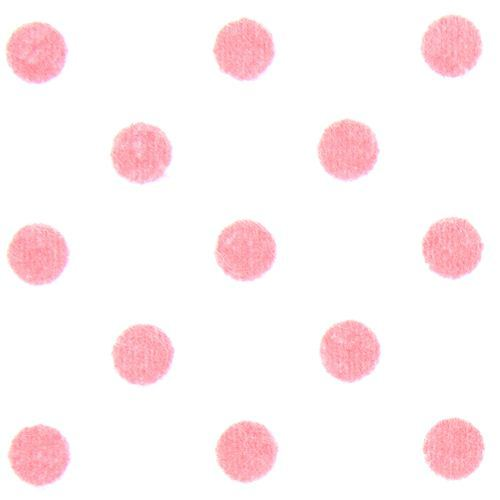 white Michael Miller flannel fabric pink polka dots
