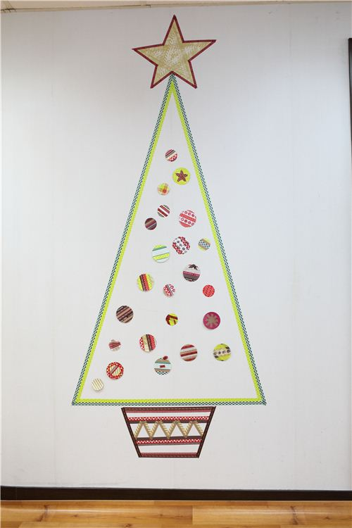 washi tape christmas tree | modeS Blog