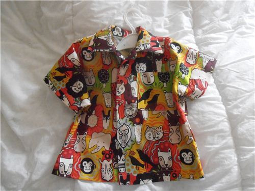 Heather May Riseborough from England made super cool toddler's shirts for her grandson