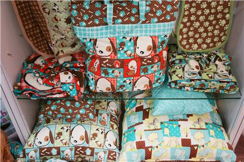 These dog pillows and bags look super cute, you can find the fabrics in our shop
