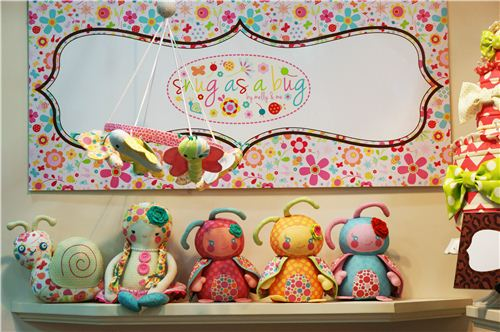 We love these cute plush toys made with Riley Blake fabrics