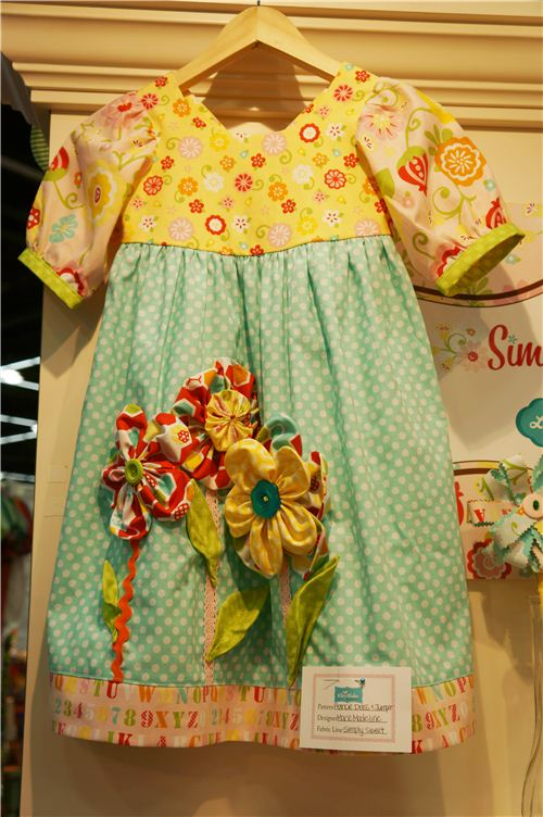 A cute children's dress with adorable applications