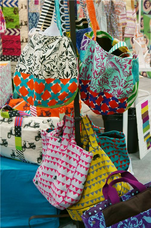 The bags sewd with the echino rhino fabric were among our favourites