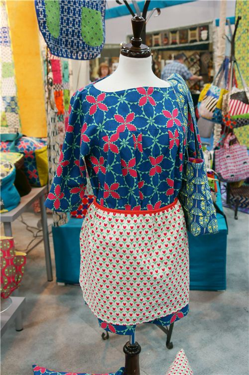 A wonderful dress made with fabrics designed by Ellen Lucket Baker
