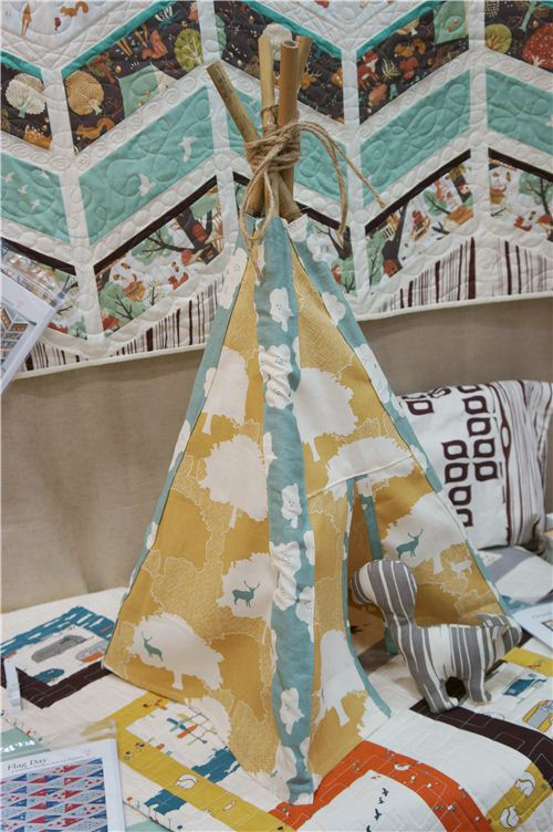 A super cute children's tepee made with birch fabrics
