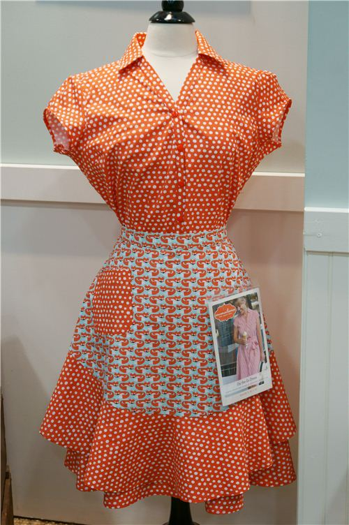 A dress made with monaluna fabrics based on a monaluna sewing pattern