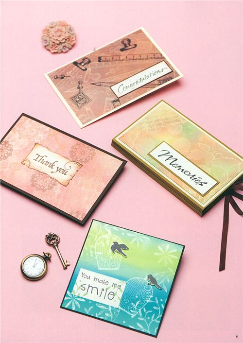 Look at these pretty designs for greeting cards or photo albums