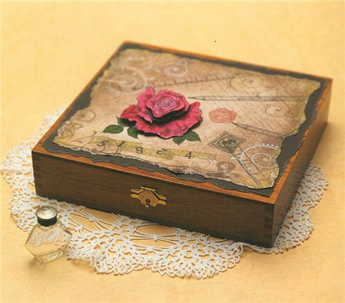 how to decorate a wooden box 2