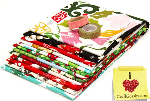 Christmas fabric bundle & Washi Tapes on craftgossip.com