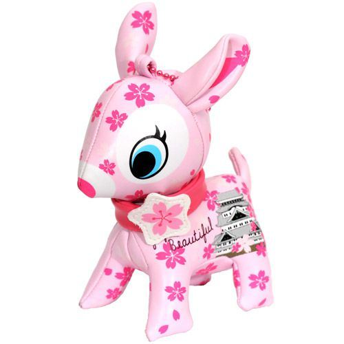 cute big pink deer charm cherry blossom temple