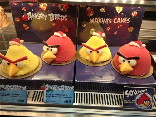 Maxim's cake offers special Angry Birds cakes for X-mas