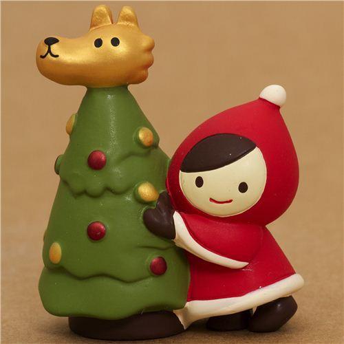 Little Red Riding Hood wolf fir tree Christmas figure Japan