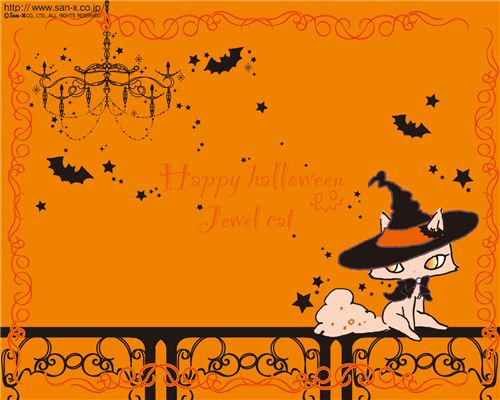 San-X' Jewel Cat also wishes Happy Halloween