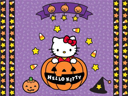 Hello Kitty in a pumpkin wallpaper spotted on kawaiiwallpapers.com