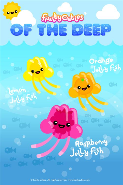 Jelly Fish Fruity Cuties iPod and iPhone wallpaper