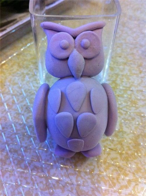 One of Loks first clay craftings - she did it all without any molds