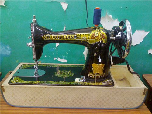 Unbelievable - Maggie learned to sew on this vintage sewing machine